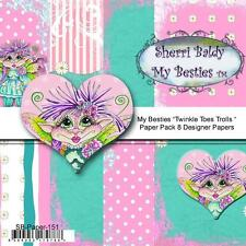 "NEW My-Besties SCRAPBOOK PAPER PACK SET 6 X 6"" free us ship TWINKLE TOES TROLLS"
