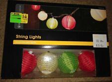 Gemmy 10 Light Fiesta Lanterns Mini Colored Light String-#40593