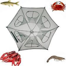 Folding Fishing Net Fish Shrimp Minnow Crab Baits Cast Mesh Trap Snare Pot Cage