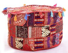Indian Patchwork Bohemian Pouf Ottoman Vintage Pouf Living Room Footstool Chair
