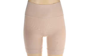 Spanx Everyday Shaping Panties Mid-Thigh Short Soft Nude S A294503 QVC J