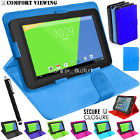 "New Magnetic Flip Stand Fits Alcatel Pixi 4 (7""inch) Tablet Leather Case Cover"