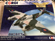 CORGI AVIATION RAF DeHAVILLAND MOSQUITO FIGHTER BOMBER FBVI AMIENS RAID 1944 VGC