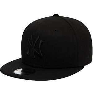 New Era Kids New York NY Yankees 9FIFTY MLB Baseball Cap - All Black - 6-12 Yrs