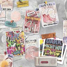 Smita Tapete Whats Up 2 WU20651 Gris Multicolor Walkman Vintage Papel Pintado