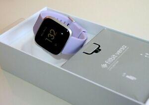 Fitbit  Versa Lite Edition Smartwatch - Silicone Band  Purple  Open box