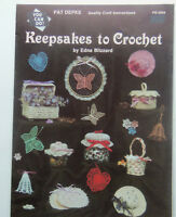 Keepsakes to Crochet  Project Book By Edna Blizzard