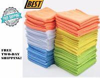 Microfiber Cleaning Cloth Towel Car Polishing Rag Detailing No-Scratch Set Of 50