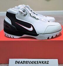Nike Air Zoom Generation QS AJ4204 101 LeBron1 First Game Wht/Wht-VCrmsn Size7.5