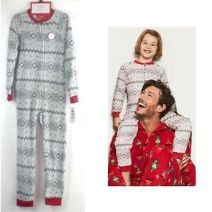 Family PJs Kids One Piece Pajama Winter Fairisle Choose Size New Boys Girls