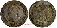 Mexico SPANISH COLONY Charles IV Silver 1790 Mo FM 1/2 Real XF Toning KM# 70