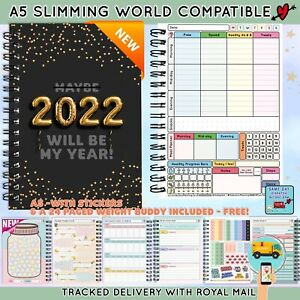 A5 Diet Diary Slimming World LOG :Weight Loss Tracker Diet Planner Food Journal