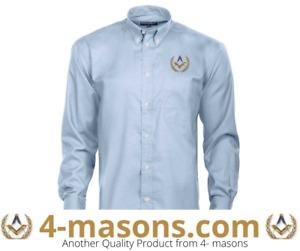 Masonic Freemasons light blue long sleeve shirt with Square & Compass £9.50