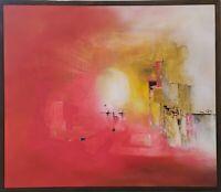 Original Abstract Fine Art Modern Painting Framed Acrylic Canvas Inspirational