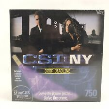 "The Missing Piece Mystery Puzzle CSI: NY ""Drop DeadLine"" 750 pcs New Ultraviolet"