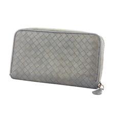 BOTTEGA VENETA Purse Intorechato gray gray leather Auth used F1604