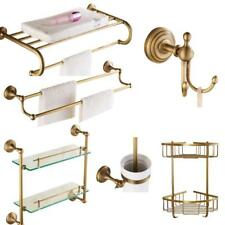 Solid Bathroom Accessories Set Wall Mounted Products Brass Brushed Antique Bath
