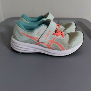 Asics Patriot 12 Youth Kid Size 2.5Y Running Shoes Green/Orange Athletic Sneaker