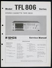 Tensai tfl806 D'origine Stéréo cassette audio Deck service-manual/Diagram o148