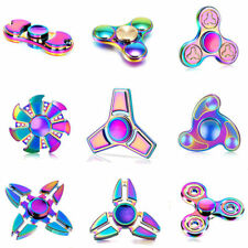 Titanium Fidget Spinner Extra Long Spin Rainbow Colours UK STOCK FAST DELIVERY