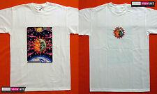 SUN + MOON Mens T-shirt Psychedelic UV Black Light Glow-in-the-dark Fluorescent