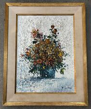 """COLORFUL HEAVY PALLET KNIFE TEXTURE """"STILL LIFE"""" ORIGINAL OIL PAINTING ON CANVAS"""