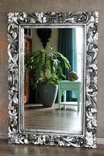 Barockspiegel Wandspiegel Barock Rokoko Spiegel silber antik 120cm x 80cm
