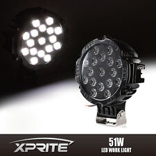 "7"" Inch 51W Spot LED Light Offroad Round Work Lamp For Truck 4WD ATV 4X4 Jeep"