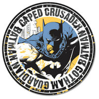 Batman Caped Crusader Round Metal Tin Sign 12 x 12in