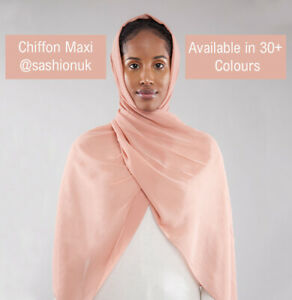 Chiffon Hijab Elegant Head Scarf Sarong Shawl Plain Maxi Georgette High Quality