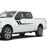 Stickers For Ford F150 Side Door Hockey Stripe Graphics ultimatePro Design Decal