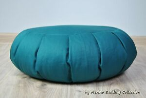 Natural VEGAN Organic Yoga Pillow Round Zafu Mat Buckwheat Meditation Cushion