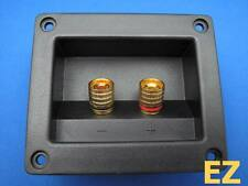 Speaker TERMINAL Plate With 2x Gold Binding Post Banana Plug Connector G124