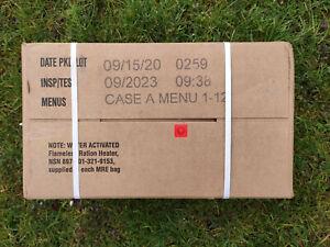 US MRE Karton A, Insp.Date 09/23, EPA Verpflegung, Army Notration, Ready to eat