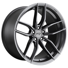 "4 Wheels Niche 1Pc VOSSO Matte Anthracite 22x9.5"" Rims Chevy GM Toyota 6X5.5+30"