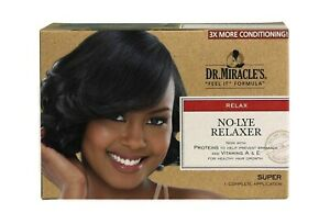 Dr. Miracle's No-lye Relaxer Super 1 Complete Application 3 time more Condition