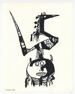 Wifredo Lam original lithograph - printed in 1967