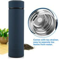 Portable Vacuum Insulated Stainless Steel Tea Bottle Water Mug Cup Thermos