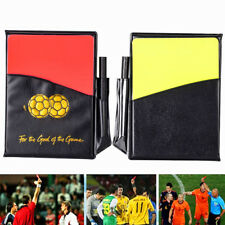 Sport Soccer Football Referee Wallet Record Match Notebook Red & Yellow Card Kit