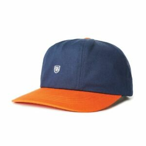 BRIXTON B-SHEILD STRAPBACK CAP WASHED NAVY/ TIGER