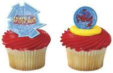 New Spiderman Cupcake Rings One Dozen Light Blue