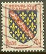 "FRANCE TIMBRE STAMP N° 1045 "" ARMOIRIES MARCHE 70c "" OBLITERE TB"