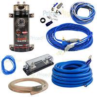 BCAP5.5 Farad Capacitor Orion 2 GA Car Amp Installation Kit Bundle Bullz Audio