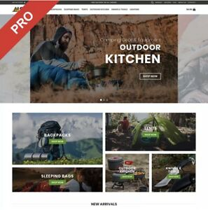 Fully Stocked Premium OUTDOOR CAMPING  Dropshipping e-commerce Website Business
