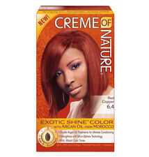 [CREME OF NATURE] ARGAN OIL EXOTIC SHINE PERMANENT HAIR COLOR DYE RED COPPER 6.4