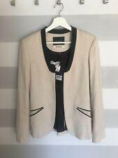 Maison Scotch Black and White Nomade Blazer Size 3 Scotch & Soda Linen Jacket BW