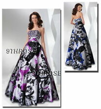 Regular Size Floral Ball Gown Formal Dresses for Women