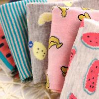 1 Pair Cute Casual Cotton Women Girl Fruit Short Socks Ankle Soft Boat Sock