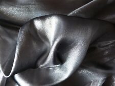 Silver Black Metallic Organza Fabric Party Halloween Costume Craft per metre