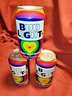 Pride Bud light Beer Can LGBTQ BI Lesbian Gay Transgender Letters  Highlighted